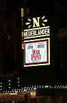 Theatre Marquee for the Broadway opening night performance of 'War Paint' at the Nederlander Theatre on April 6, 2017 in New York City.