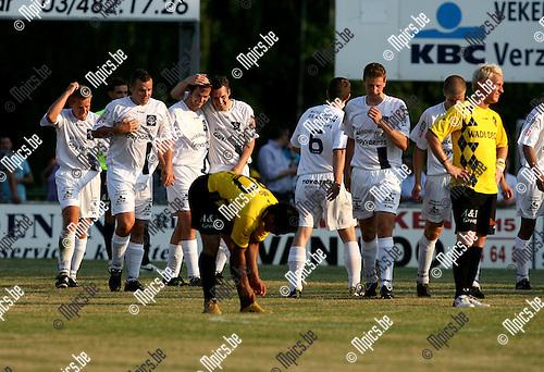 2010-05-28 / Voetbal / seizoen 2010-2011 / FC Heikant - Lierse SK / Vreugde bij Heikant na de 1-4..Foto: mpics