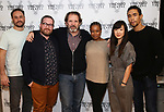"Greg Keller, Michael Cyril Creighton, Thomas Jay Ryan, Quincy Tyler Bernstine, Jennifer Kim, and Kyle Beltran attend the Meet & Greet for the cast of ""The Amateurs"" at the Shelter Studios on January 9, 2018 in New York City."