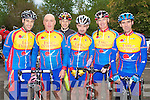 TOUR OF WEST KERRY: The Earl of Desmond team competing in the Chain Gang Challenge at the CBS the Green, Tralee on Saturday l-r: Colin Duffin, Pat Leahy, Barry Murphy, Michael Leahy, Michael O'Callaghan and Paul Lynch.