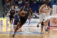 22.04.2012 SPAIN - ACB match played between Real Madrid vs Estudiantes at Palacio de los deportes stadium. The picture show