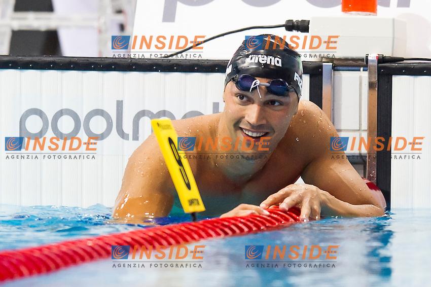 PIZZINI Luca ITA bronze medal<br /> London, Queen Elizabeth II Olympic Park Pool <br /> LEN 2016 European Aquatics Elite Championships <br /> Swimming<br /> Men's 200m breaststroke final  <br /> Day 11 19-05-2016<br /> Photo Giorgio Perottino/Deepbluemedia/Insidefoto