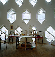 The atelier of the Melnikov House with its rows of unique hexagonal windows