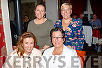 Fab Fifty<br /> -----------<br /> Tralee lady, Doreen Duggan, seated Rt, celebrated her 50th birthday last Saturday night in Cassidy's, Tralee also seated is Maria Godley, back L-R Ann Davis with Bernie O'Connell.