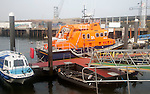 RNLI lifeboat in the harbour, Falmouth, Cornwall, England, UK