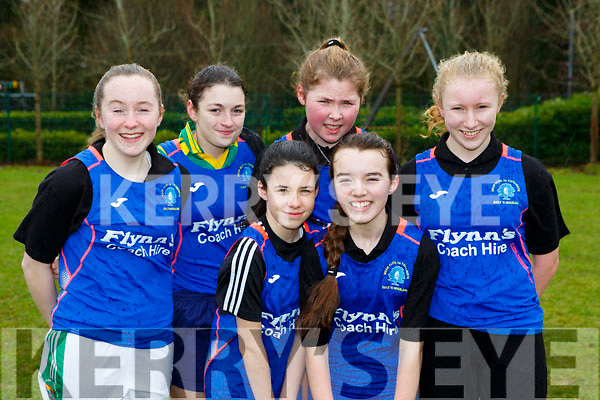 Presentation Milltown athletes at the Kerry Schools Cross Country championships in Killarney on Friday front Millie McCarthy, Sophie O'Shea. Back rw: Niamh Denham, Kitty O'Dowd, Sinead Barrett and Katie O'Leary