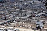 Photo shows the Hiyorigaoka district 10 weeks after the  March 11 tsunamis washed through the coastal community in Ishinomakicity, Miyagi Prefecture, Japan on 25 May, 2011.  Photographer: Robert Gilhooly