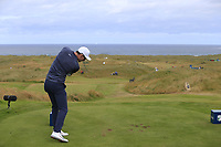 Dylan Frittelli (RSA) tees off the par3 14th tee during Thursday's Round 1 of the 2018 Dubai Duty Free Irish Open, held at Ballyliffin Golf Club, Ireland. 5th July 2018.<br /> Picture: Eoin Clarke | Golffile<br /> <br /> <br /> All photos usage must carry mandatory copyright credit (&copy; Golffile | Eoin Clarke)