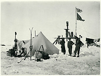 BNPS.co.uk (01202 558833)<br /> Pic: Bonhams/BNPS<br /> <br /> November 1915 - Shackleton and his crew prepare to drag three lifeboats from Endurance over the treacherous sea ice in an attempt to find open water<br /> <br /> Photographic record of one of the worlds most epic tales of endurance.<br /> <br /> Remarkable photos documenting Sir Ernest Shackleton's ill-fated attempt to cross Antarctica over 100 years ago have emerged for sale for £40,000.<br /> <br /> The 1914-17 expedition is remembered for one of the greatest feats of human bravery and endurance after the party became stranded for 18 months in freezing conditions. <br /> <br /> The expedition's official photographer, Frank Hurley, captured their ordeal on camera and made presentation albums when he eventually returned to Britain.<br /> <br /> One album was given to King George V. Seven are believed to survive today, including the one for sale that has been owned by a private collector for over 40 years.