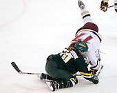 Hannah Westbrook (Vermont - 15), Danielle Welch (BC - 17) - The University of Vermont Catamounts defeated the Boston College Eagles 5-1 on Saturday, November 7, 2009, at Conte Forum in Chestnut Hill, Massachusetts.
