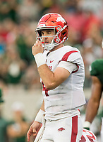 NWA Democrat-Gazette/BEN GOFF @NWABENGOFF<br /> Ty Storey, Arkansas quarterback, vs Colorado State Saturday, Sept. 8, 2018, at Canvas Stadium in Fort Collins, Colo.