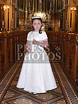 hannah Cooney who received first holy communion in St Peters church West street. Photo:Colin Bell/pressphotos.ie