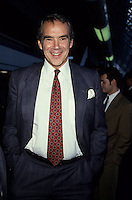 File Photo circa 1990 Montreal (QC) CANADA - Peter Blaikie .<br /> <br />  Blaikie ran as a Progressive Conservative candidate in the 1979 and 1980 elections in the federal district of Lachine. Each time he finished second against Liberal incumbent Rod Blaker.<br /> <br /> Blaikie was a leadership candidate at the party's 1976 and 1983 conventions. In both cases, he dropped from the race before the first ballot took place.<br /> <br /> He was the party's president from 1981 to 1983.<br /> Language policy activist<br /> <br /> For many years, Blaikie lobbied against Quebec's Charter of the French Language. <br /> <br /> From 1987 until 1989, Blaikie served as Chairman of the Board of Administration of Alliance Quebec. He also briefly served as Acting President of the organization, during the transition between the presidencies of Royal Orr and Robert Keaton.