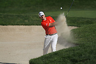 Bethesda, MD - June 29, 2014:  Ben Martin plays his 3rd shot from the bunker on hole 17 during the Final Round of the Quicken Loans National at the Congressional Country Club in Bethesda, MD., June, 29, 2014. (Photo by Elliott Brown/Media Images International)
