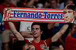 Atletico de Madrid's fan during La Liga match between Atletico de Madrid and Getafe CF at Wanda Metropolitano Stadium in Madrid, Spain. August 18, 2019. (ALTERPHOTOS/A. Perez Meca)