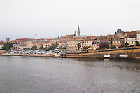 View over the Old Town Bergerac over the river Dordogne Bergerac Dordogne France
