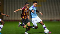 ZelI Ismail of Bradford City and Morgan Rogers of Man City challenge for the ball during the The Leasing.com Trophy match between Bradford City and Manchester City U21 at the Utilita Energy Stadium, Bradford, England on 24 September 2019. Photo by Thomas Gadd.