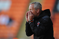 Blackpool manager Neil Critchley shouts instructions to his team from the dug-out <br /> <br /> Photographer Kevin Barnes/CameraSport<br /> <br /> The EFL Sky Bet League One - Blackpool v Swindon Town - Saturday 19th September 2020 - Bloomfield Road - Blackpool<br /> <br /> World Copyright © 2020 CameraSport. All rights reserved. 43 Linden Ave. Countesthorpe. Leicester. England. LE8 5PG - Tel: +44 (0) 116 277 4147 - admin@camerasport.com - www.camerasport.com