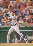 23 July 2016: San Diego Padres outfielder Melvin Upton Jr. in action against the Washington Nationals at Nationals Park in Washington, DC. The Nationals defeated the Padres 3-2 to tie their series at one game apiece. Mandatory Credit: Ed Wolfstein Photo *** RAW (NEF) Image File Available ***