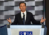 Actor Tony Goldwyn makes remarks during the second session of the 2016 Democratic National Convention at the Wells Fargo Center in Philadelphia, Pennsylvania on Tuesday, July 26, 2016.<br /> Credit: Ron Sachs / CNP<br /> (RESTRICTION: NO New York or New Jersey Newspapers or newspapers within a 75 mile radius of New York City)