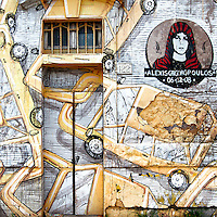 Artist BLU <br /> Title No Title ( in memory of Alexis Grigoropoulos ) <br /> Quartiere / District  Ostiense <br /> <br /> Roma 10-11-2015 Street Art a Roma. <br /> Street Art in Rome. <br /> Foto Andrea Staccioli / Insidefoto