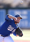 Wildcats' Max Karnos pitches against Salt Lake Community College during a college baseball game at Western Nevada College in Carson City, Nev., on Thursday, March 5, 2015. <br /> Photo by Cathleen Allison/Nevada Photo Source