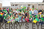 Saint Patrick pictured with Scoil Eoin Balloonagh pupils at their St. Patricks Parade on Friday.