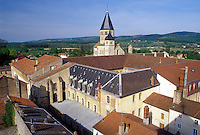 Burgundy, Cluny, France, Saone-et-Loire, Bourgogne, Europe, wine region, Eglise Abbatiale the Abbey Church and the town of Cluny.