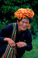 Traditional people from the Shan state near Inle Lake 1996, Myanmar/Burma