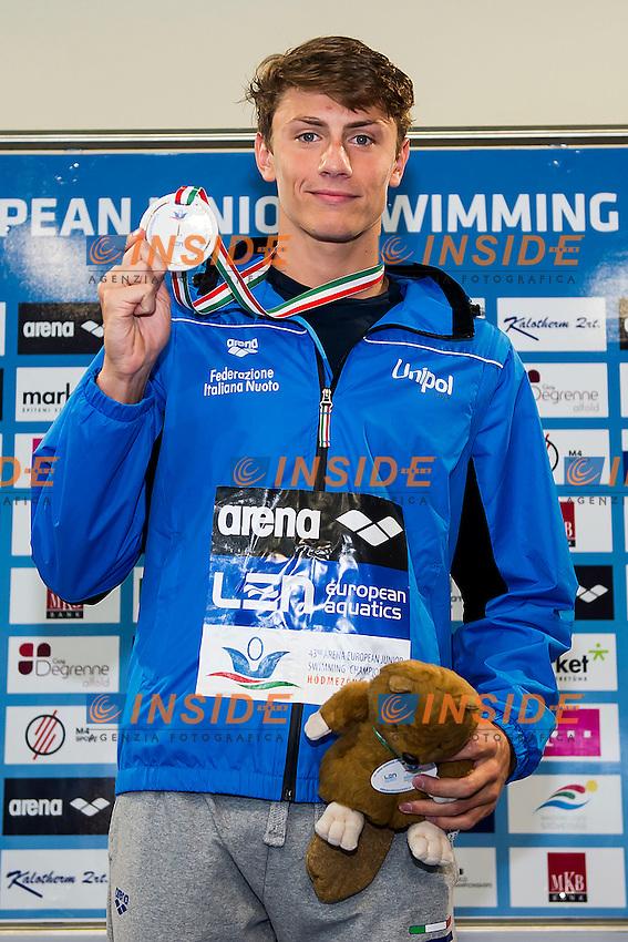 Martinenghi Nicolo ITA<br /> 100 Breaststroke Men Final Gold Medal<br /> LEN 43rd Arena European Junior Swimming Championships<br /> Hodmezovasarhely, Hungary <br /> Day05 10-07-2016<br /> Photo Andrea Masini/Deepbluemedia/Insidefoto
