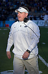 Nevada Wolf Pack head coach Brian Polian walks the sidelines during the game against the BYU Cougars played at Mackay Stadium on Saturday afternoon, November 30, 2013 in Reno, Nevada.