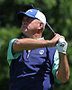 Craig Thomas tees off on the 5th Hole of Garden City Country Club during the Polo / Ralph Lauren Metropolitan PGA Head Professional Championship on Wednesday, May 30, 2018.