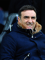 Swansea City manager Carlos Carvalhal <br /> <br /> Photographer Ashley Crowden/CameraSport<br /> <br /> The Premier League - Swansea City v Burnley - Saturday 10th February 2018 - Liberty Stadium - Swansea<br /> <br /> World Copyright &copy; 2018 CameraSport. All rights reserved. 43 Linden Ave. Countesthorpe. Leicester. England. LE8 5PG - Tel: +44 (0) 116 277 4147 - admin@camerasport.com - www.camerasport.com