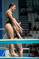 JANSEN Inge, WILS Daphne NED<br /> Diving <br /> Women's 3m Synchro Springboard Preliminary<br /> Day 04 17/07/2017 <br /> XVII FINA World Championships Aquatics<br /> Duna Arena Budapest Hungary July 15th - 30th 2017 <br /> Photo @A.Masini/Deepbluemedia/Insidefoto
