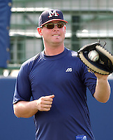 21 April 2005: Catcher Brian McCann of the Mississippi Braves, Class AA affiliate of the Atlanta Braves, taken at Trustmark Park in Pearl, Mississippi. Photo by Tom Priddy (Tom Priddy/Four Seam Images)