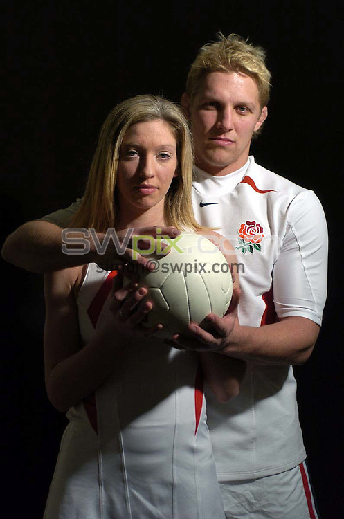 Pix: Ben Duffy/SWpix.com.....England Netball captain Olivia Murphy....01/03/2004..England Netball captain Olivia Murphy meets Leicester Tigers and England star, Lewis Moody...?COPYRIGHT PICTURE>>SIMON WILKINSON>>08700920092>>.