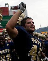 September 20, 2008: Pitt linebacker Scott McKillop. The Pitt Panthers defeated the Iowa Hawkeyes 21-20 on September 20, 2008 at Heinz Field, Pittsburgh, Pennsylvania.