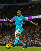 3rd December 2017, Etihad Stadium, Manchester, England; EPL Premier League football, Manchester City versus West Ham United; Danilo of Manchester City with the ball