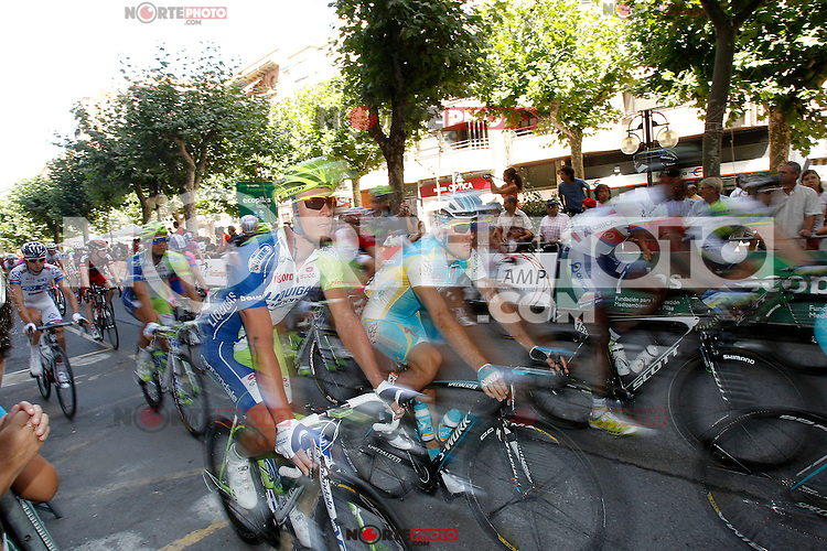 The gruop during the stage of La Vuelta 2012 between Logroño and Logroño.August 22,2012. (ALTERPHOTOS/Acero) /NortePhoto.com<br />