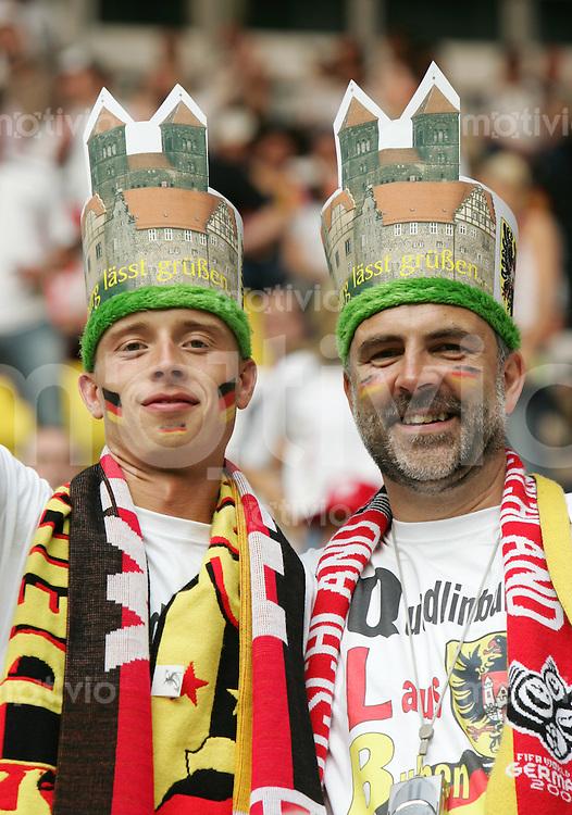 Fussball WM 2006  Gruppenspiel  Vorrunde Deutschland - Polen Deutsche Fans vor dem Spiel