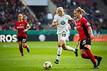 01.05.2019, RheinEnergie Stadion , Köln, GER, 1.FBL, Borussia Dortmund vs FC Schalke 04, DFB REGULATIONS PROHIBIT ANY USE OF PHOTOGRAPHS AS IMAGE SEQUENCES AND/OR QUASI-VIDEO<br /> <br /> im Bild | picture shows:<br /> Pernille Harder (VfL Wolfsburg #22) im Duell mit Virginia (SC Freiburg Frauen #25), <br /> <br /> Foto © nordphoto / Rauch