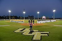 National anthem before the season opening game between the Siena Saints and Central Florida Knights at Jay Bergman Field on February 14, 2014 in Orlando, Florida.  UCF defeated Siena 8-1.  (Mike Janes/Four Seam Images)