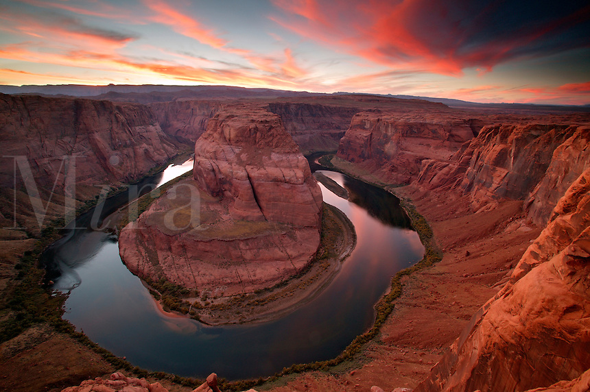 The Colorado River at Horseshoe Bend, near Page, Arizona.