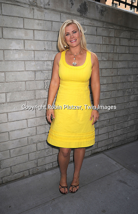 actress Alison Sweeney of Days of Our Lives and ..The Biggest Loser..at the Daytime Emmy Nominations on April 30, 2008 at the..ABC Studio in New York City.....Robin Platzer, Twin Images