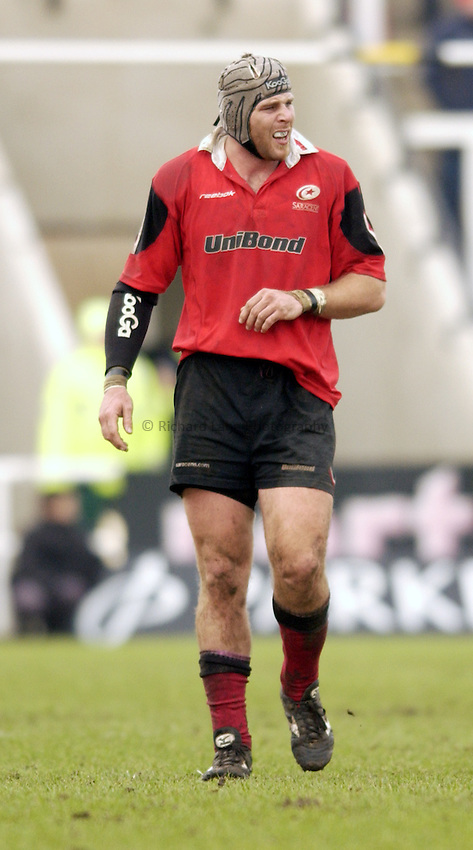 Photo. Jed Wee.Newcastle Falcons v Saracens, Parker Pen Challenge Cup, Kingston Park, Newcastle. 19/01/2003..Saracens' Kris Chesney.