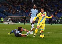 Gonzalo Higuaindurante l'incontro di calcio di Serie A  Lazio Napoli   allo  Stadio Olimpico  di Romai , 2 Dicembre 2013<br /> Foto Ciro De Luca