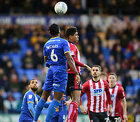 Lincoln City's Tyreece John-Jules battles with Shrewsbury Town's Omar Beckles<br /> <br /> Photographer Andrew Vaughan/CameraSport<br /> <br /> The EFL Sky Bet League One - Shrewsbury Town v Lincoln City - Saturday 11th January 2020 - New Meadow - Shrewsbury<br /> <br /> World Copyright © 2020 CameraSport. All rights reserved. 43 Linden Ave. Countesthorpe. Leicester. England. LE8 5PG - Tel: +44 (0) 116 277 4147 - admin@camerasport.com - www.camerasport.com