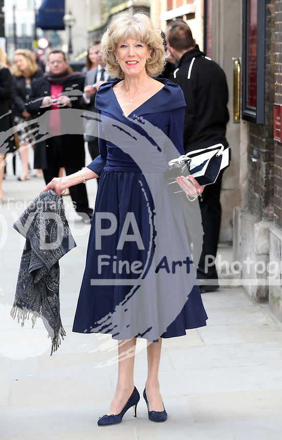 Sue Nicholls arriving for the wedding of Coronation Street actress Helen Worth   at St.James's Church in Piccadilly, London, Saturday 6th   April 2013.  Photo by: Stephen Lock / i-Images / DyD Fotografos
