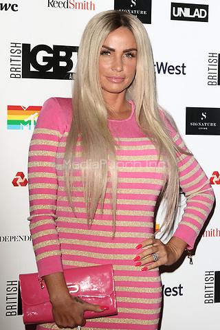 Katie Price at the The British LBGT Awards at the Grand Connaught Rooms, Covent Garden, London on May 12th 2017<br /> CAP/ROS<br /> &copy; Steve Ross/Capital Pictures /MediaPunch ***NORTH AND SOUTH AMERICAS ONLY***