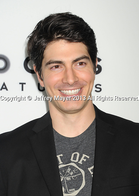 HOLLYWOOD, CA- AUGUST 21: Actor Brandon Routh arrives at the Los Angeles premiere of 'The World's End' at ArcLight Cinemas Cinerama Dome on August 21, 2013 in Hollywood, California.